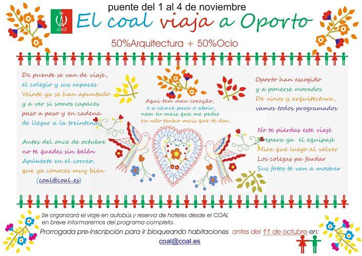 Ultimas plazas para el viaje a OPORTO (puente del 1 al 4 de noviembre)