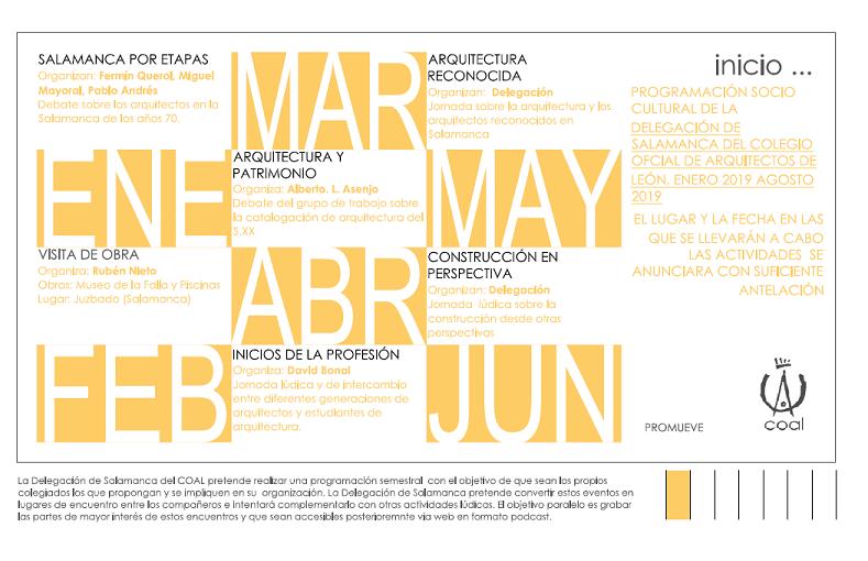 Programación sociocultural Delegación de Salamanca – Tercera actividad