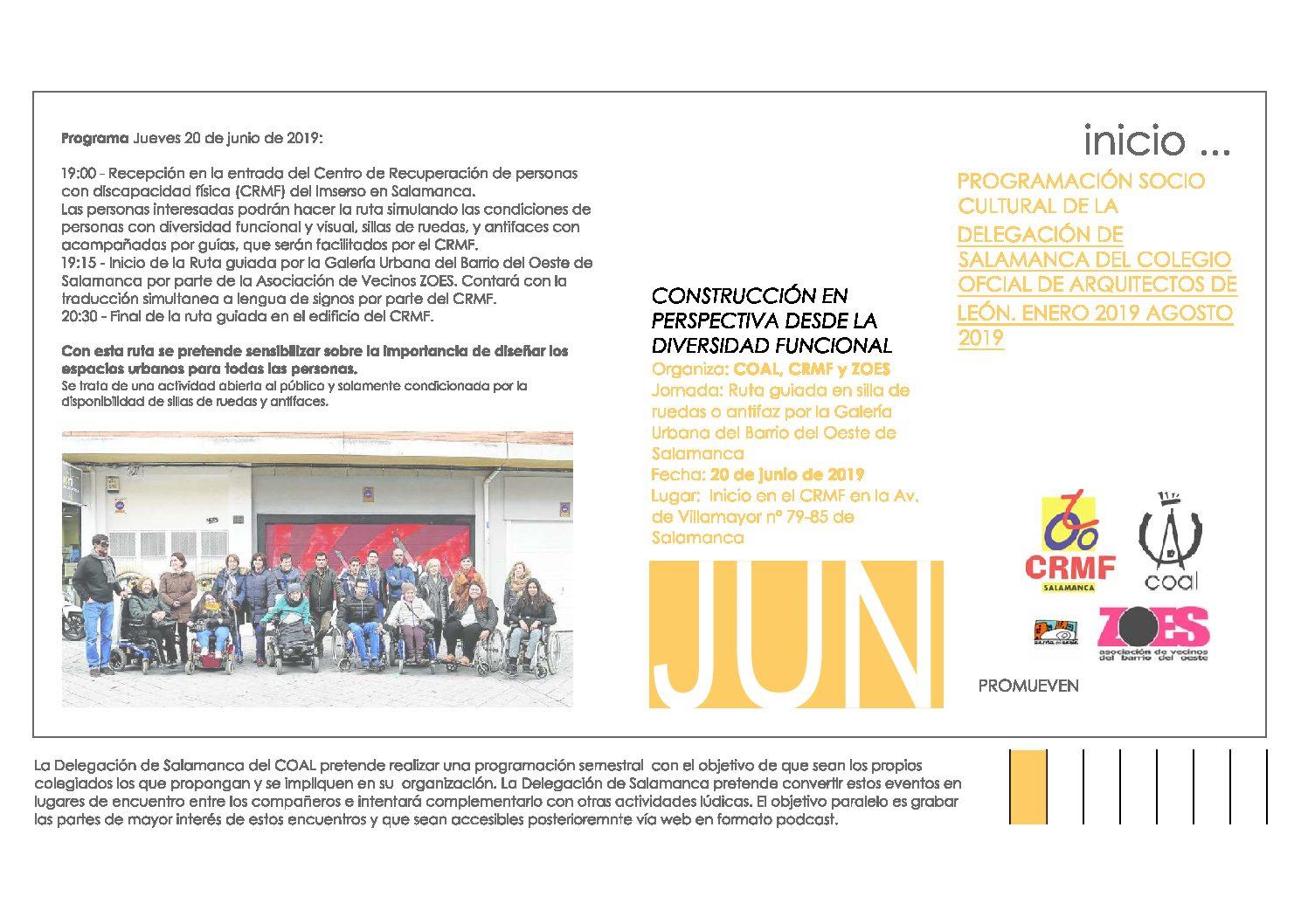 Actividad socio-cultural Salamanca. «Construcción en perspectiva»