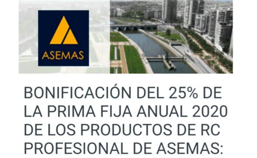 BONIFICACIÓN DEL 25% ASEMAS POR COVID-19