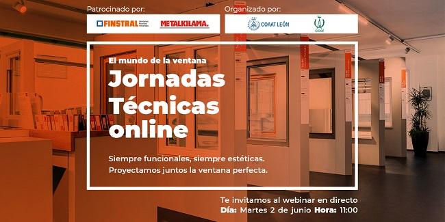 "Jornada Técnica online ""El mundo de la ventana"" martes 2 de junio hora: 11:00"