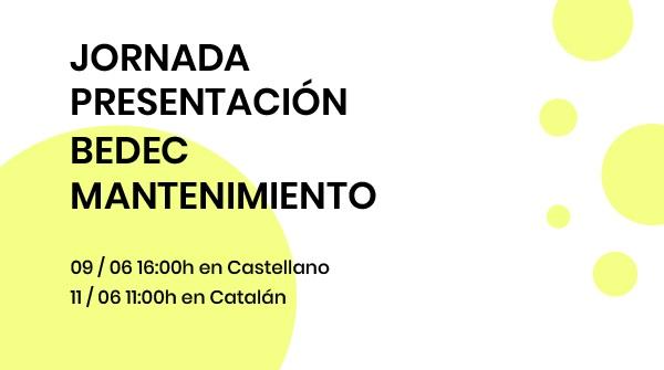 ITeC_Jornada Presentación BEDEC Mantenimiento