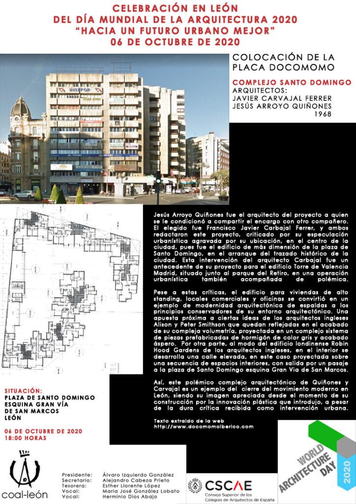 SUSPENDIDO ACTO DE CELEBRACIÓN EN LEÓN DEL DÍA MUNDIAL DE LA ARQUITECTURA 2020 @ León