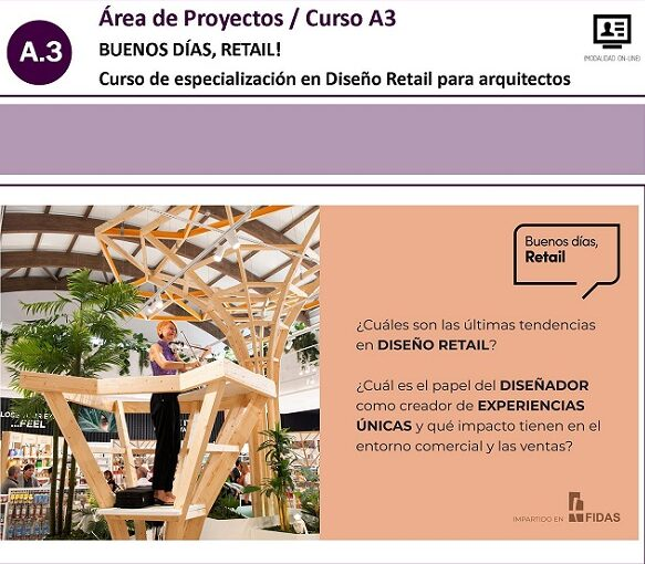 Curso Fundación Fidas en Diseño Retail para Arquitectos