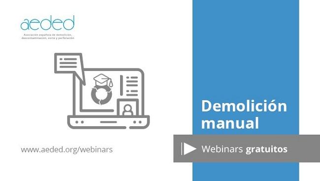Webinar AEDED: Demolición manual