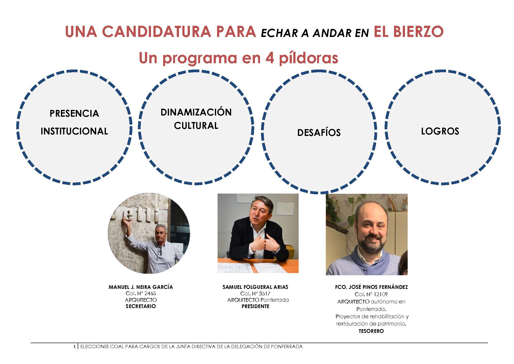Candidatura 1 Delegación de Ponferrada
