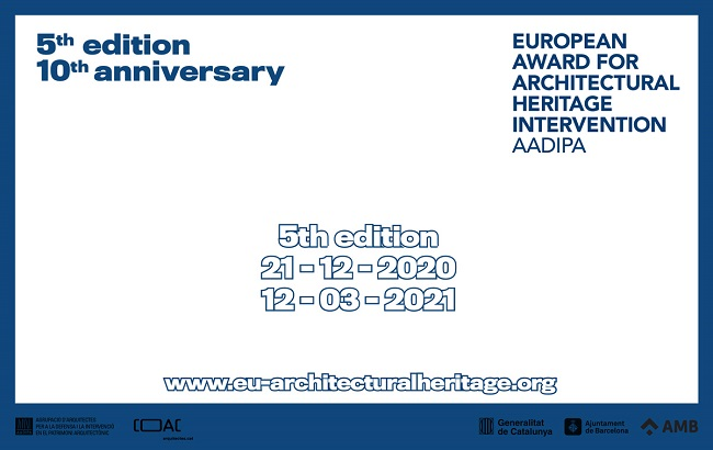 5ª edición del Premio Europeo de Intervención en el Patrimonio Arquitectónico AADIPA