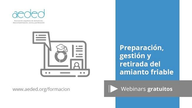 Webinar AEDED: Preparación, retirada y gestión del amianto friable