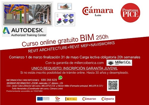 Webinar Informativo Curso BIM Cámara de Comercio de León
