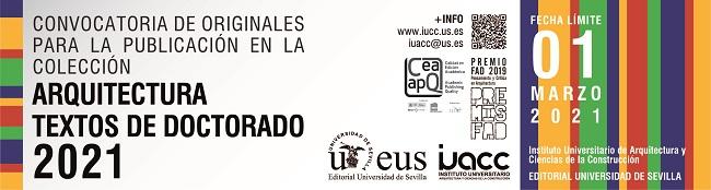 Convocatoria 2021 de Originales para la publicación en la colección «ARQUITECTURA, TEXTOS DE DOCTORADO»