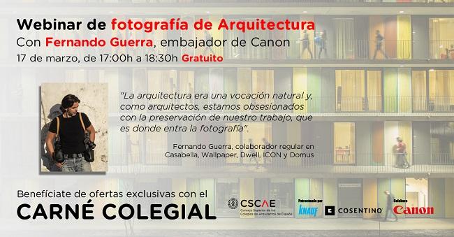 Webinar Canon: «Fotografía de Arquitectura con Fernando Guerra»