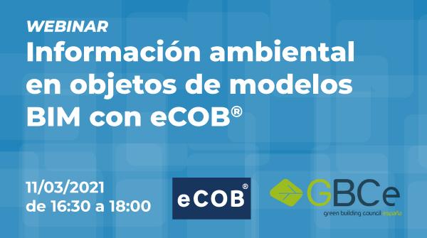 Información ambiental en objetos de modelos BIM con eCOB®