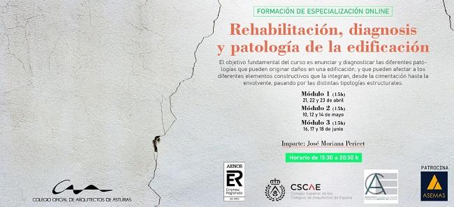 Curso: Rehabilitación, diagnosis y patología de la edificación