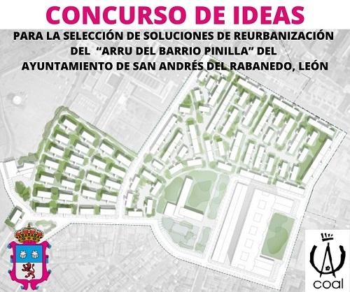 """Concurso de ideas para la selección de soluciones de reurbanización del """"ARRU del Barrio Pinilla"""" del Ayuntamiento de San Andrés del Rabanedo"""