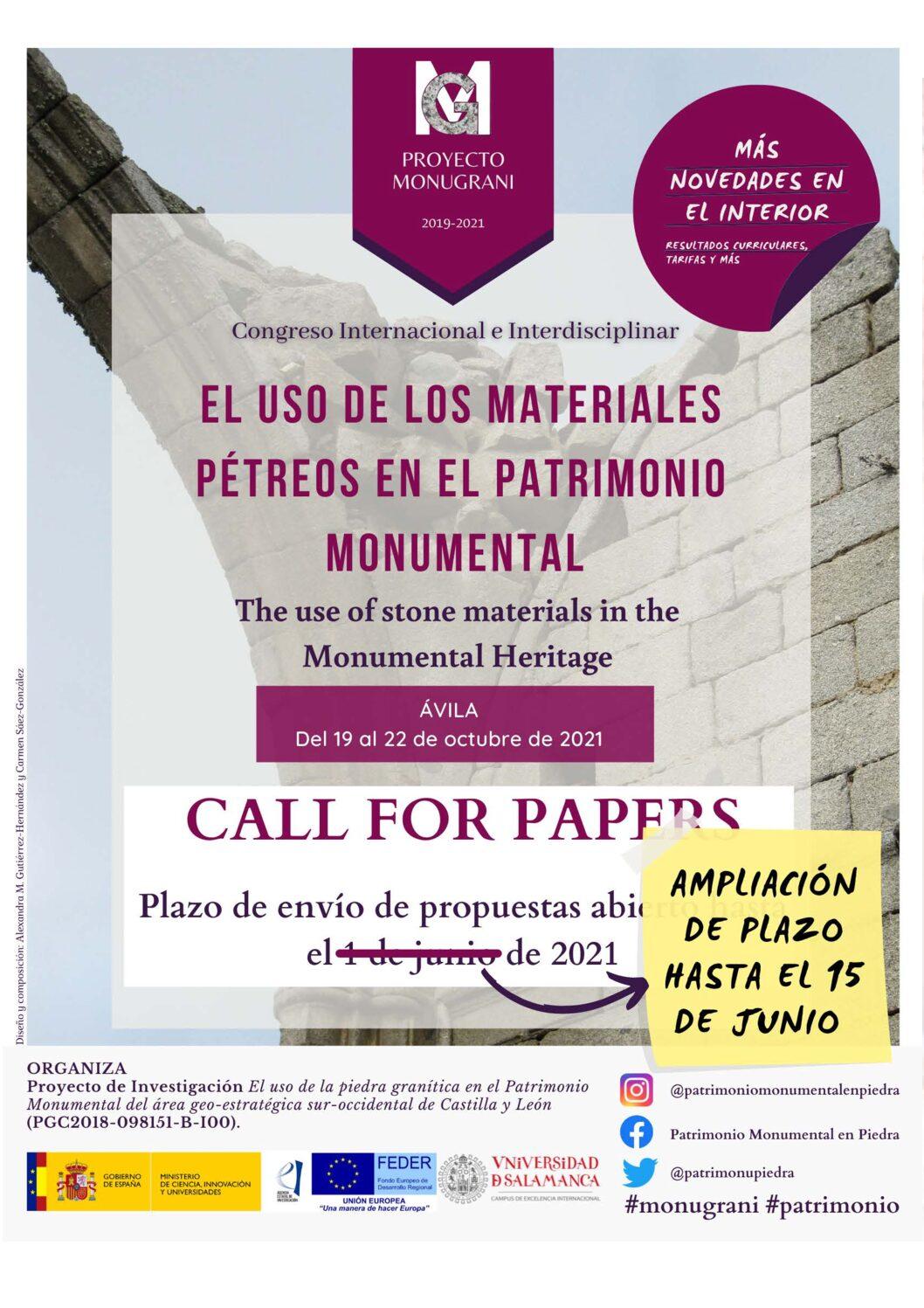Congreso-El uso de los materiales pétreos en el Patrimonio Monumental