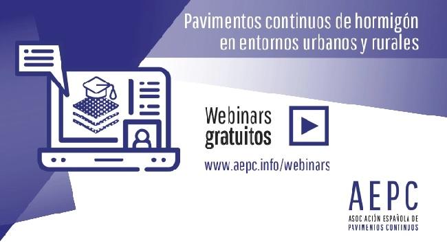 Webinar AEPC: Pavimentos continuos de hormigón en entornos urbanos y rurales