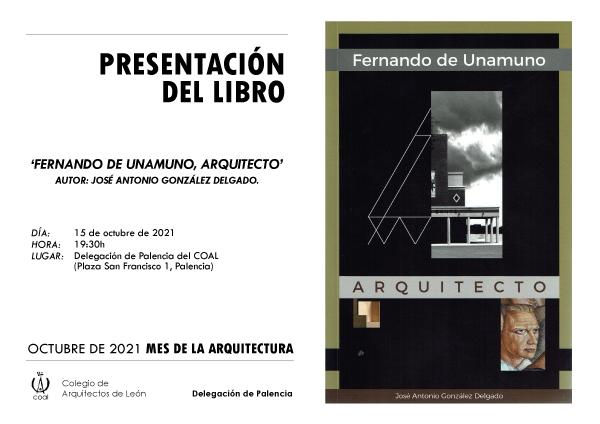 Presentación Libro FERNANDO DE UNAMUNO- 15 Octubre #Palencia