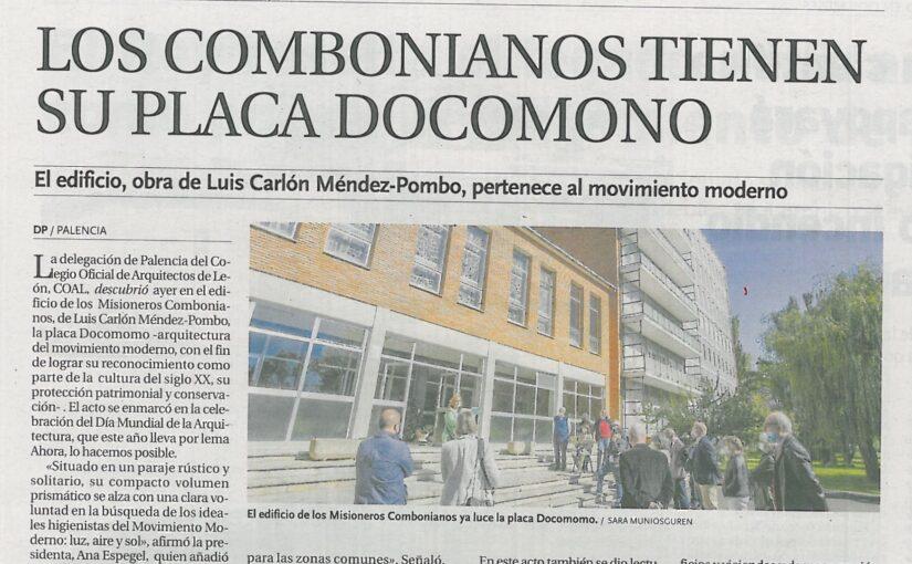 Los Combonianos tienen su placa DOCOMOMO